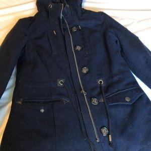 3/$15 Aeropostale jacket coat navy blue size small